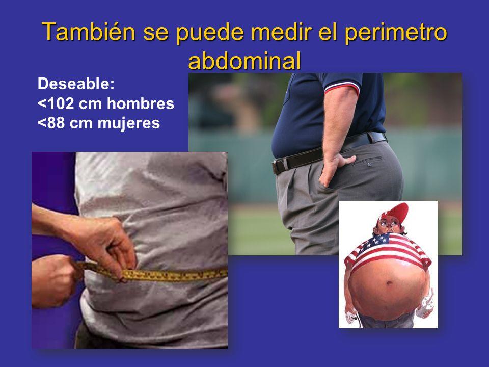 También se puede medir el perimetro abdominal