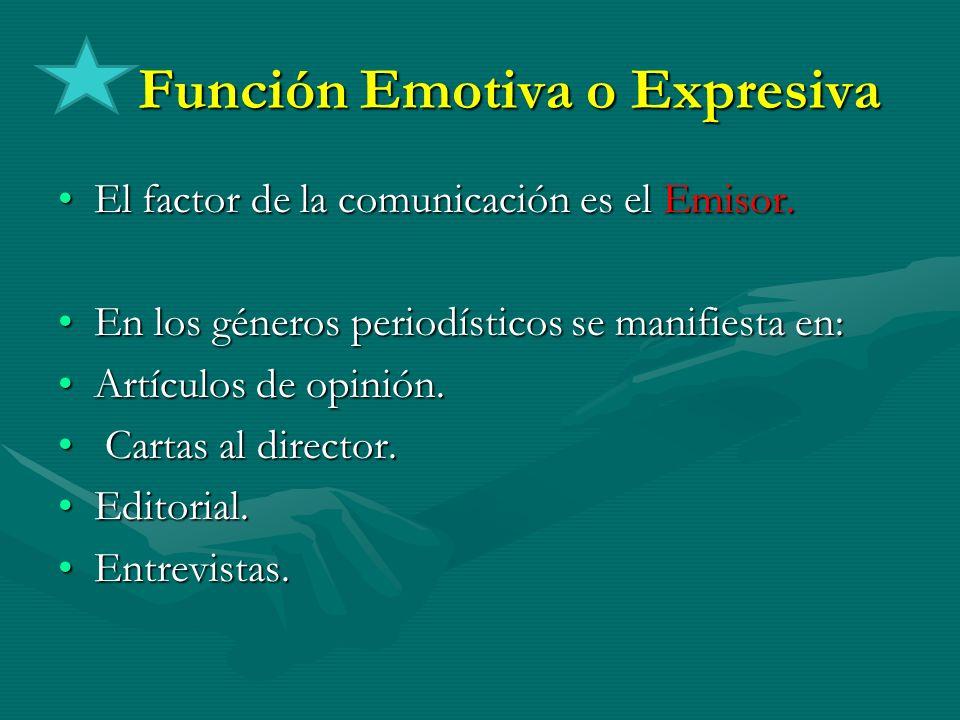 Función Emotiva o Expresiva