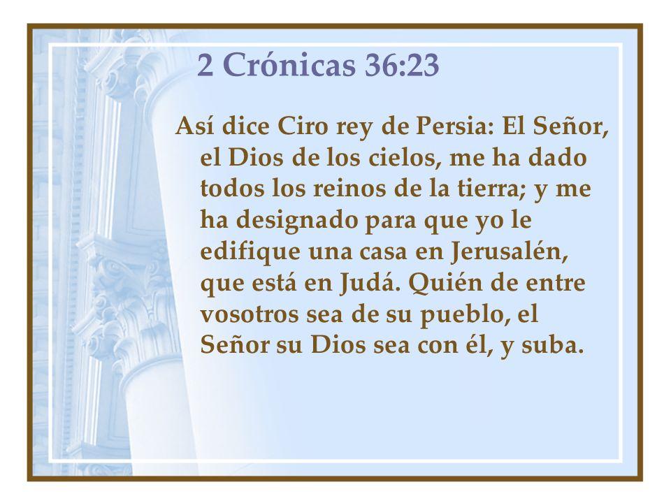 2 Crónicas 36:23