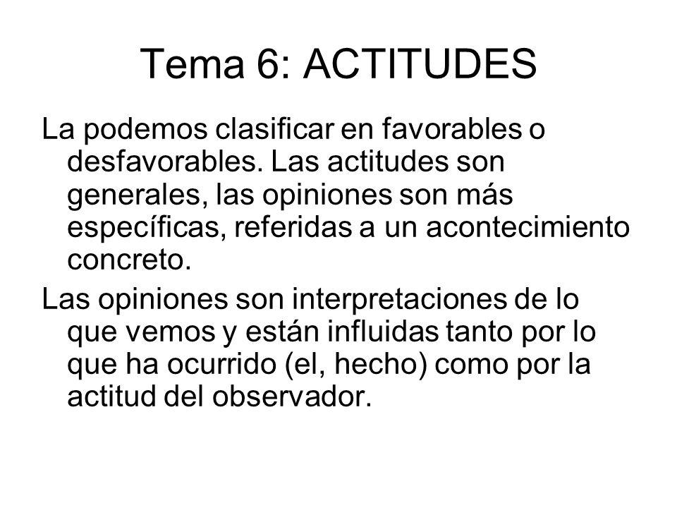 Tema 6: ACTITUDES