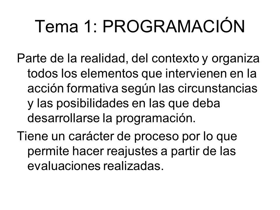 Tema 1: PROGRAMACIÓN