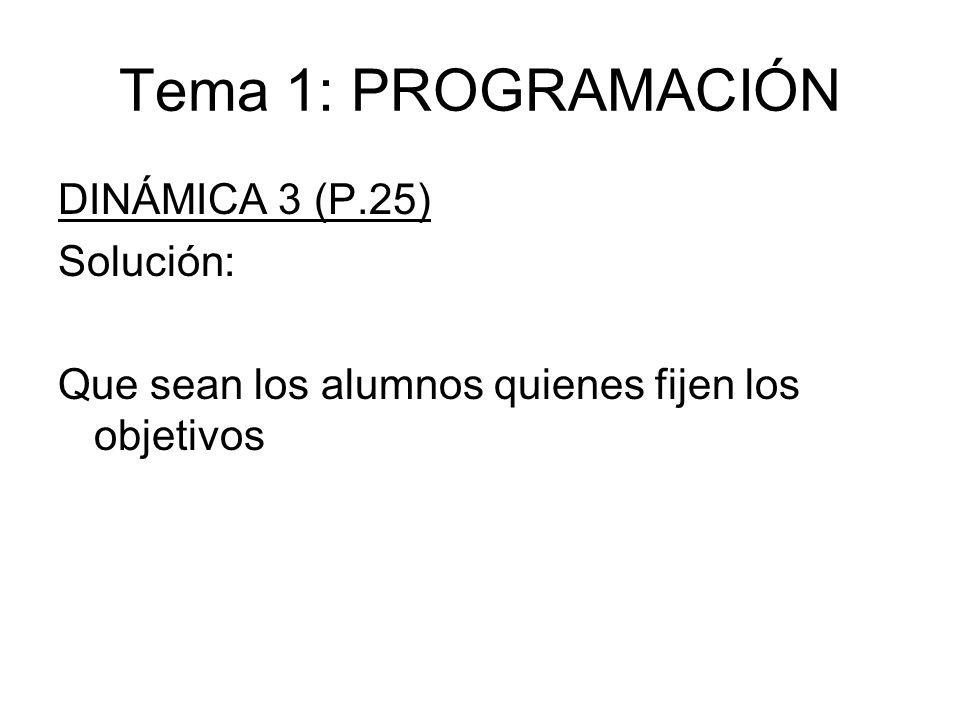 Tema 1: PROGRAMACIÓN DINÁMICA 3 (P.25) Solución: