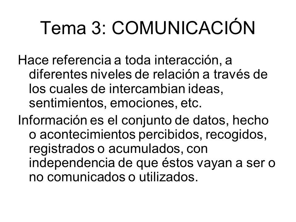 Tema 3: COMUNICACIÓN