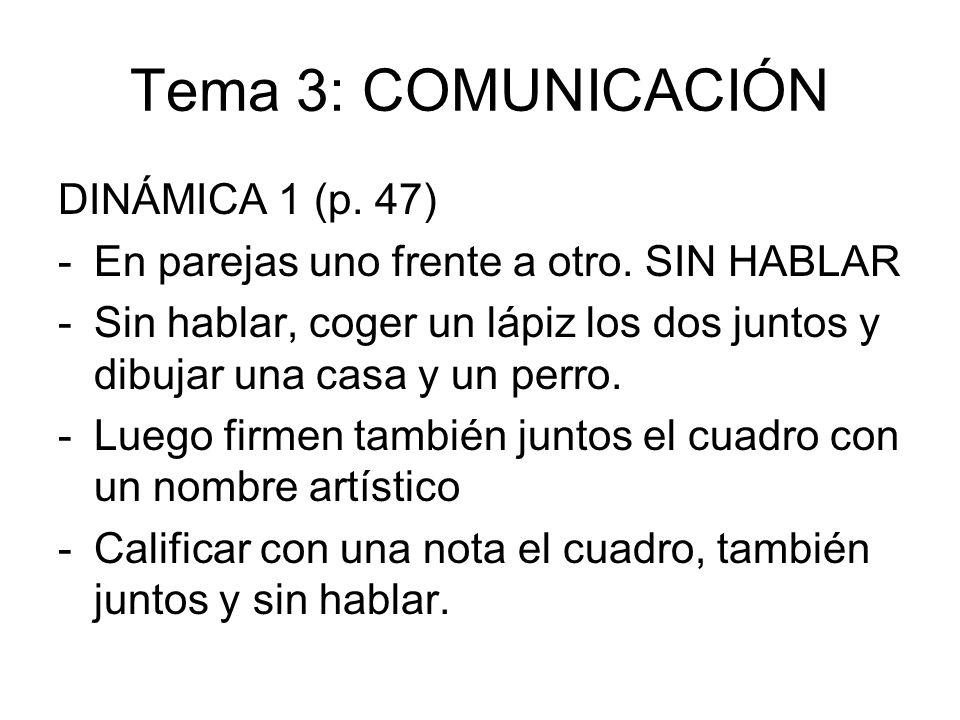 Tema 3: COMUNICACIÓN DINÁMICA 1 (p. 47)