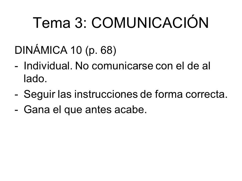 Tema 3: COMUNICACIÓN DINÁMICA 10 (p. 68)