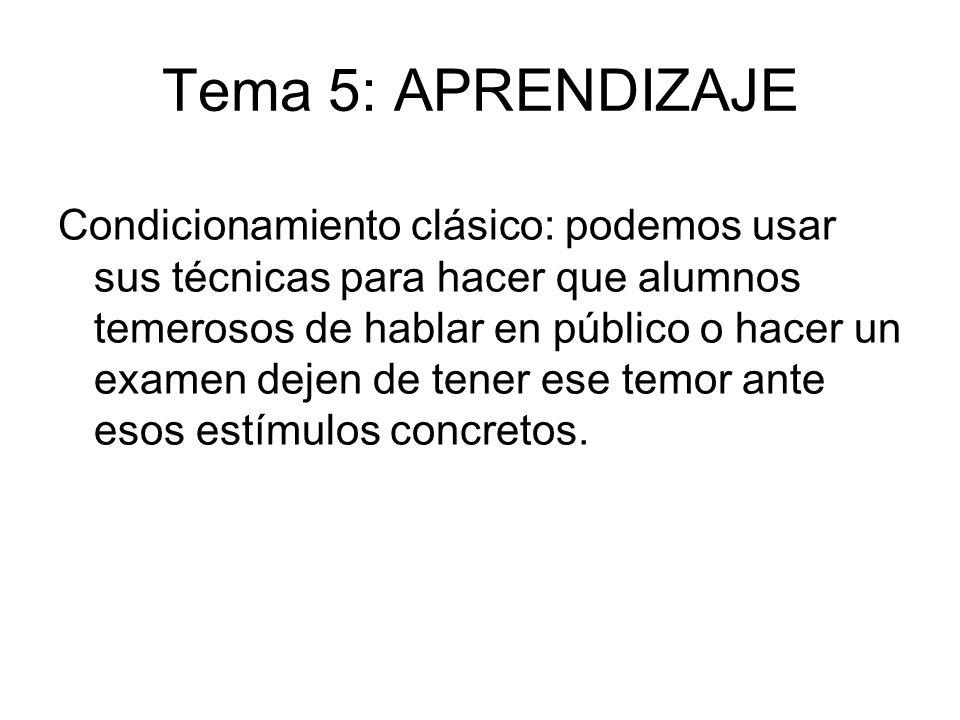 Tema 5: APRENDIZAJE