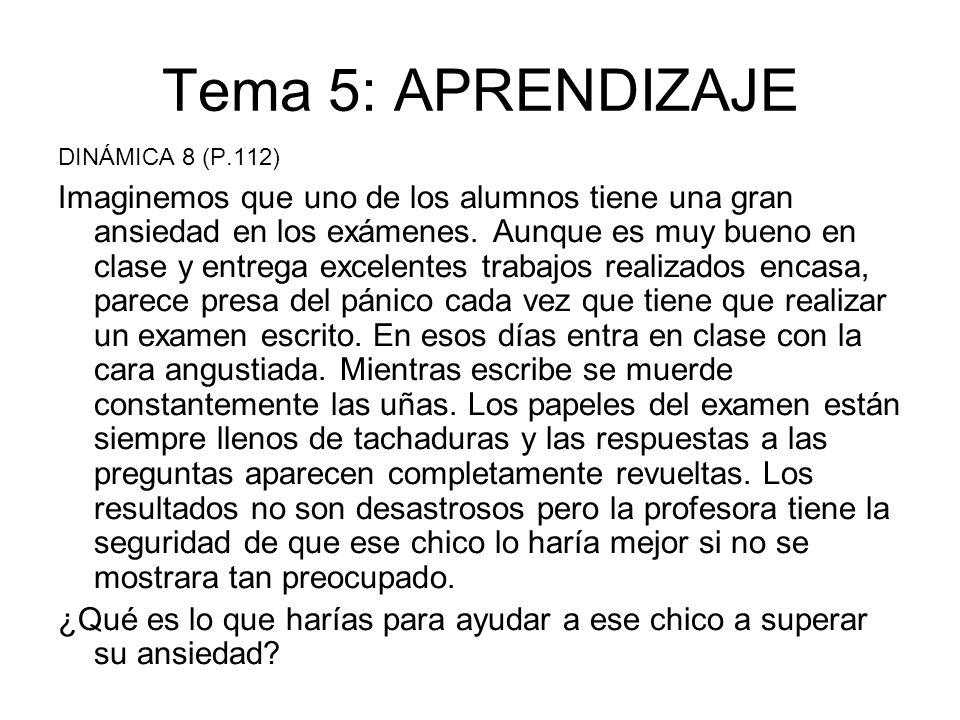 Tema 5: APRENDIZAJE DINÁMICA 8 (P.112)