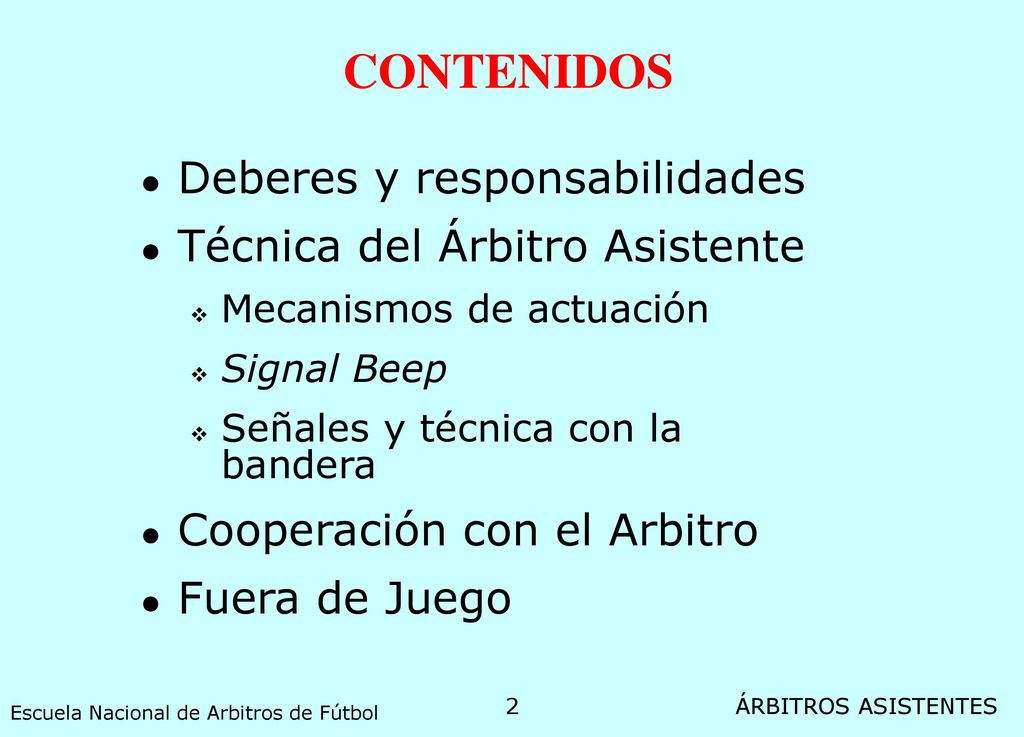 MANUAL PARA ARBITROS ASISTENTES - ppt video online descargar