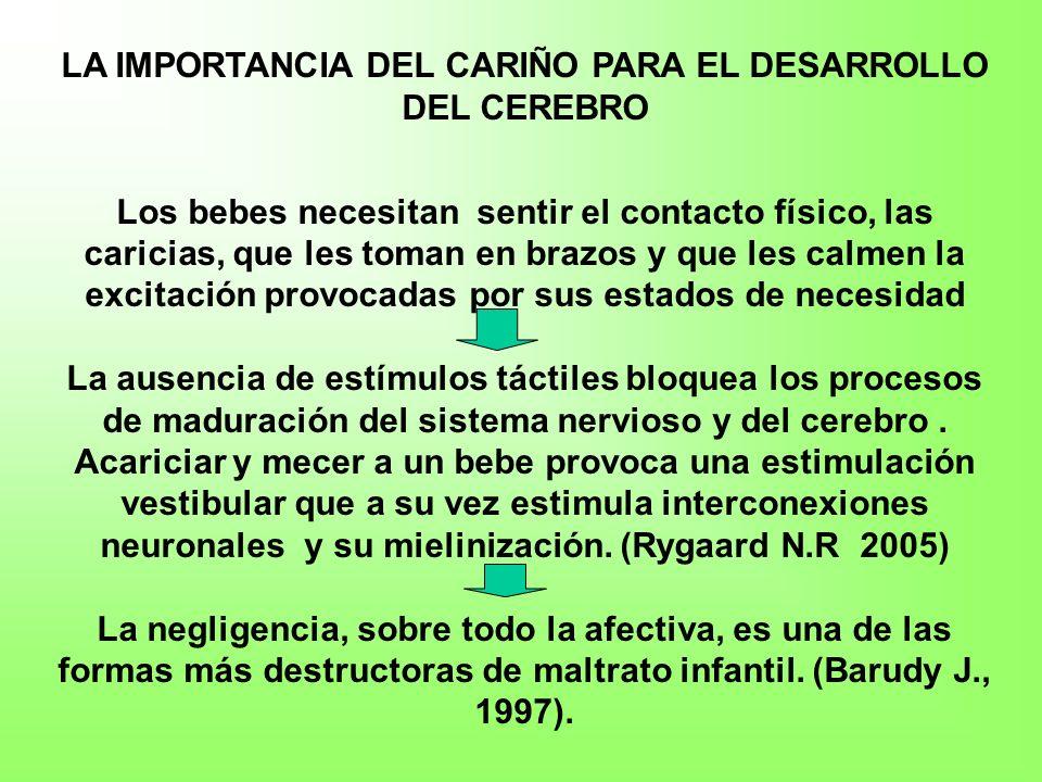 LA IMPORTANCIA DEL CARIÑO PARA EL DESARROLLO DEL CEREBRO