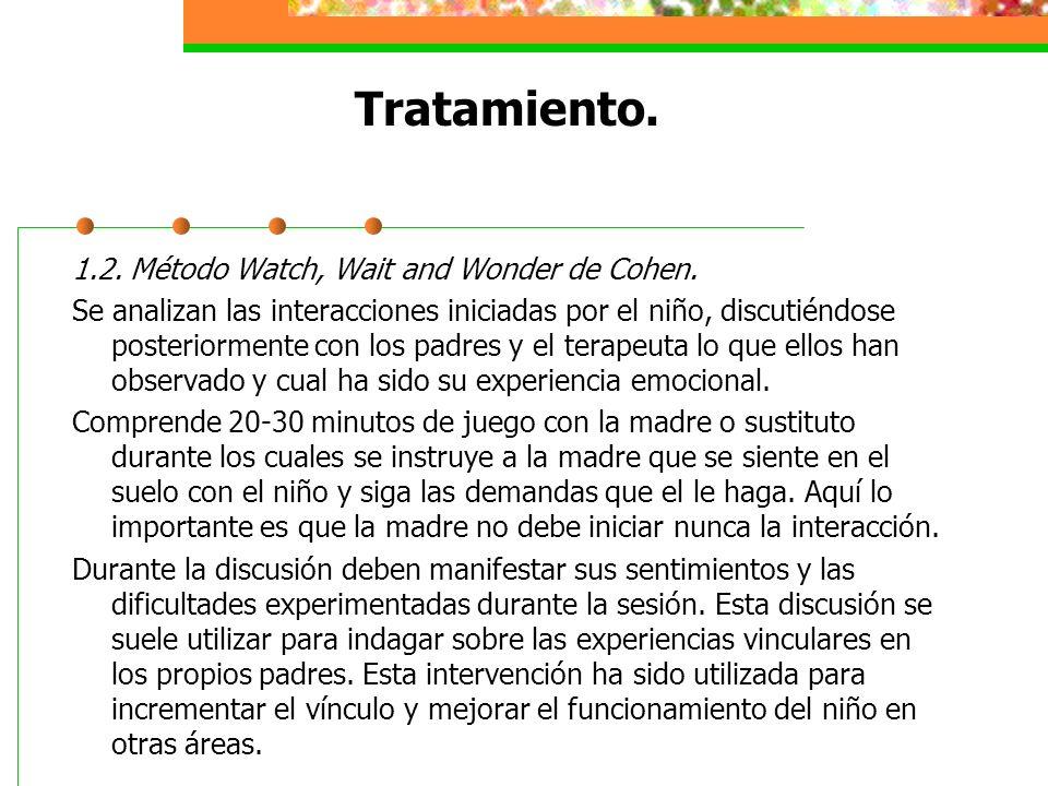 Tratamiento. 1.2. Método Watch, Wait and Wonder de Cohen.