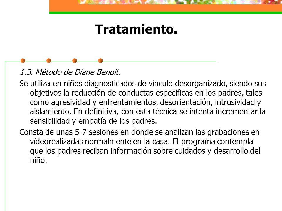 Tratamiento. 1.3. Método de Diane Benoit.