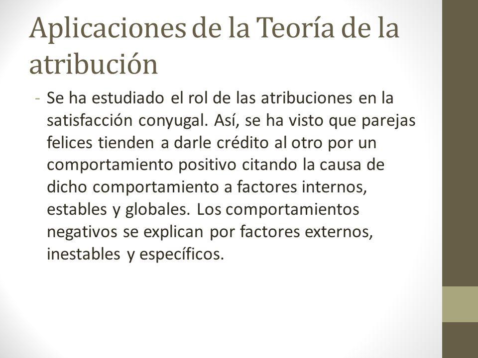 Aplicaciones de la Teoría de la atribución