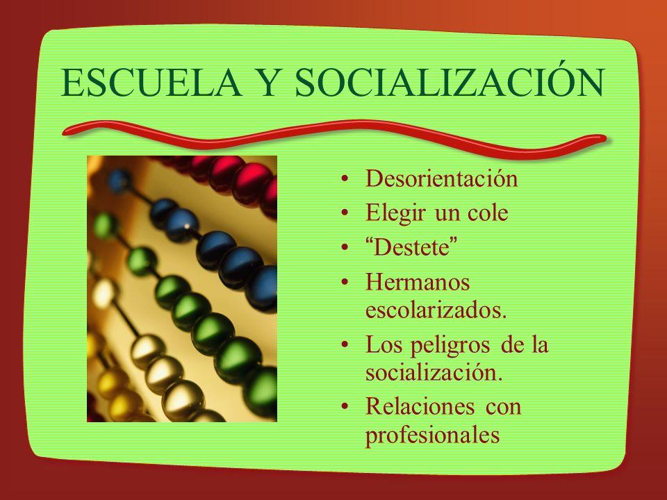 ESCUELA Y SOCIALIZACIÓN