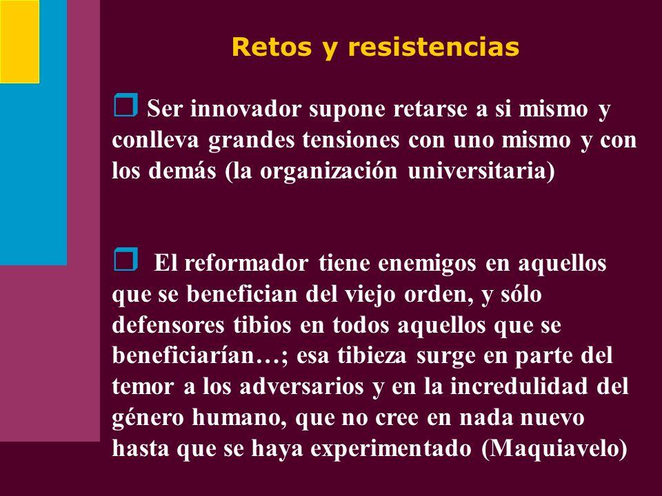 Retos y resistencias