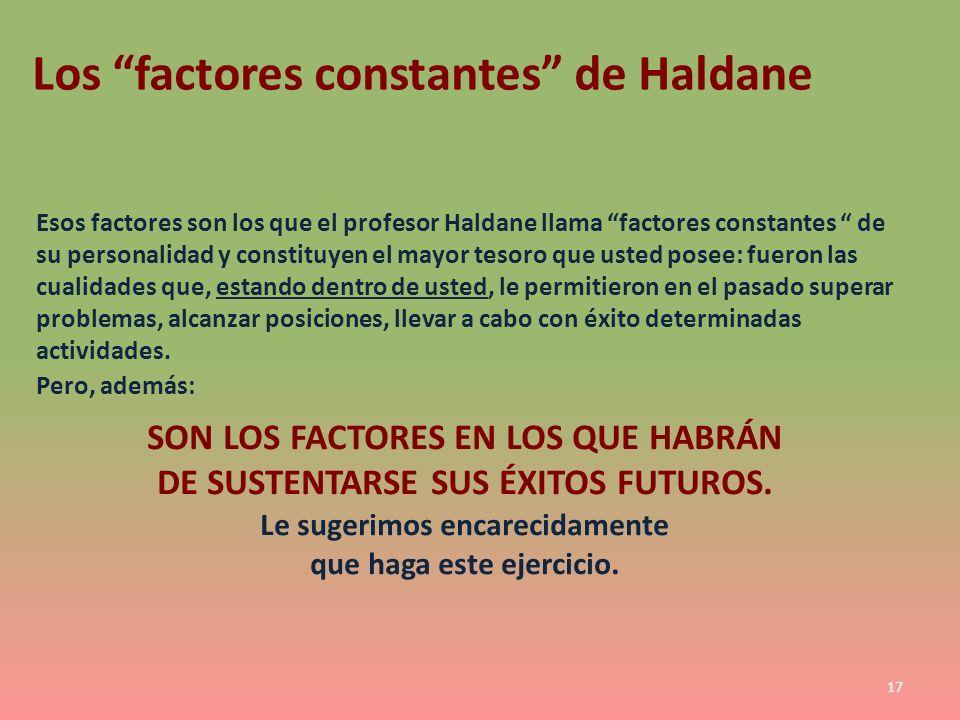 Los factores constantes de Haldane
