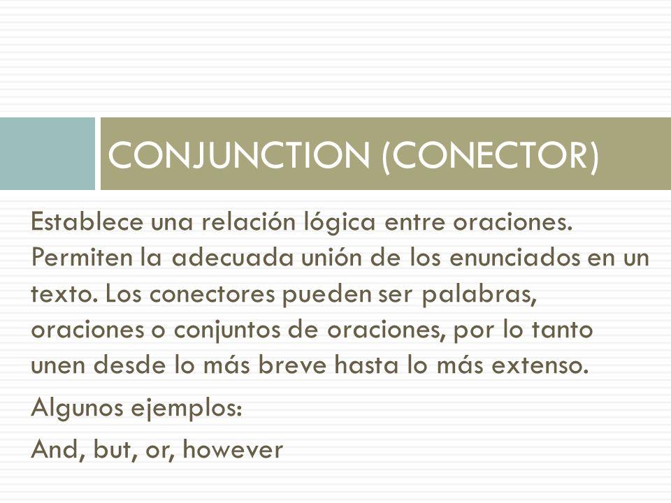 CONJUNCTION (CONECTOR)