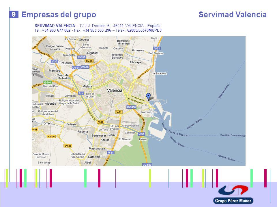 Empresas del grupo Servimad Valencia 9