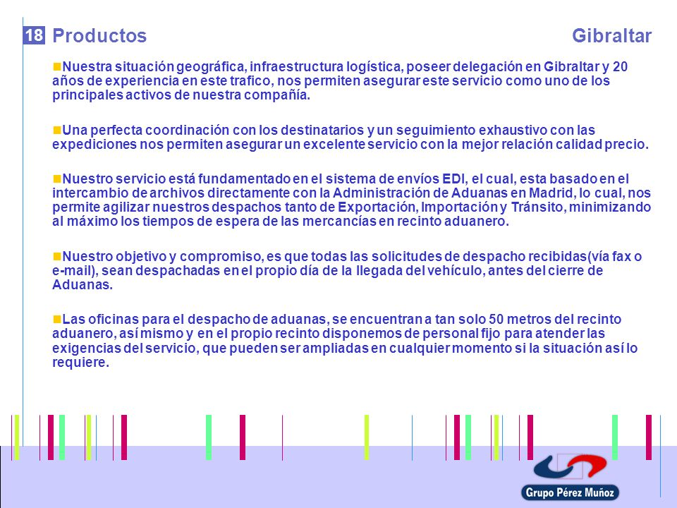 Productos Gibraltar. 18.