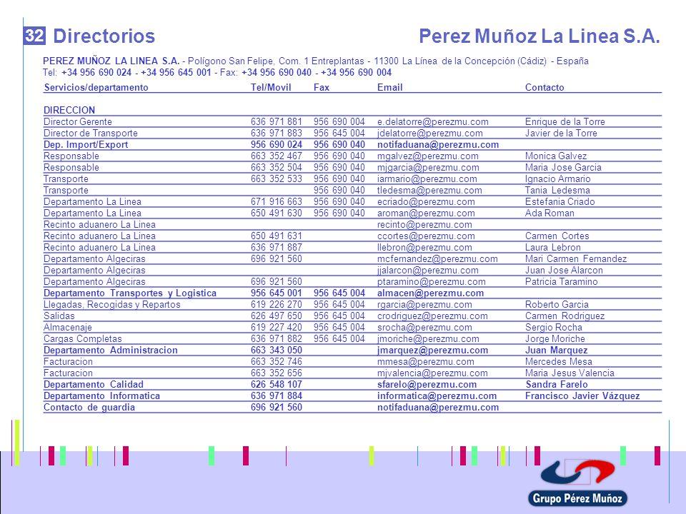 Directorios Perez Muñoz La Linea S.A. 32