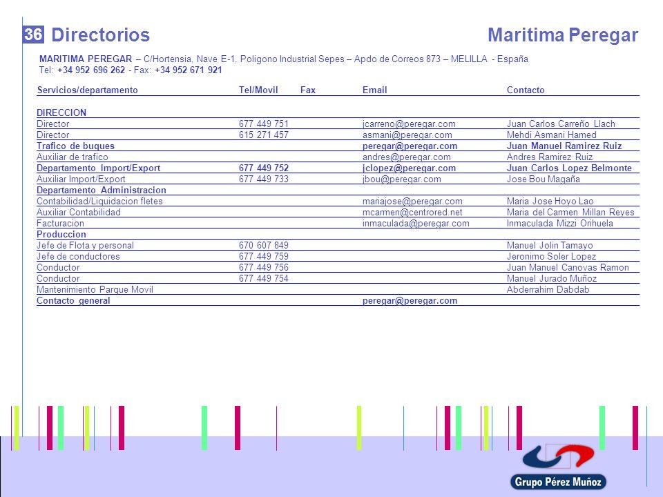 Directorios Maritima Peregar 36