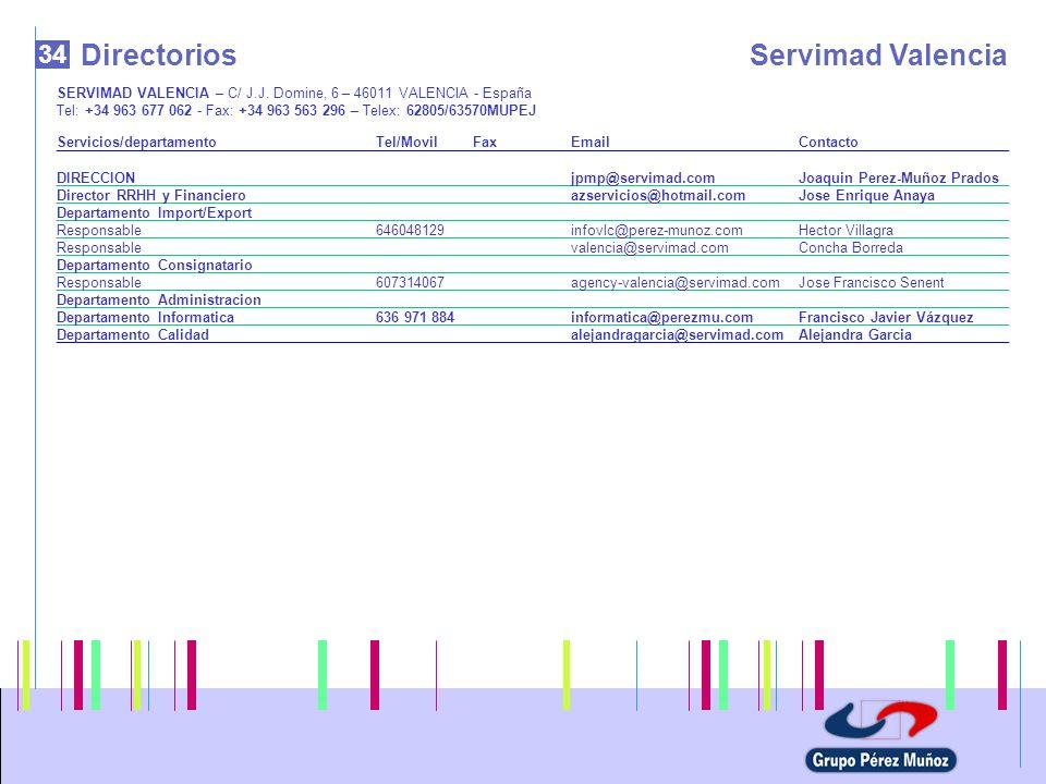 Directorios Servimad Valencia 34