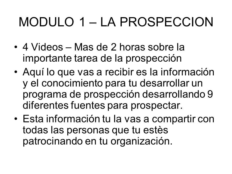 MODULO 1 – LA PROSPECCION
