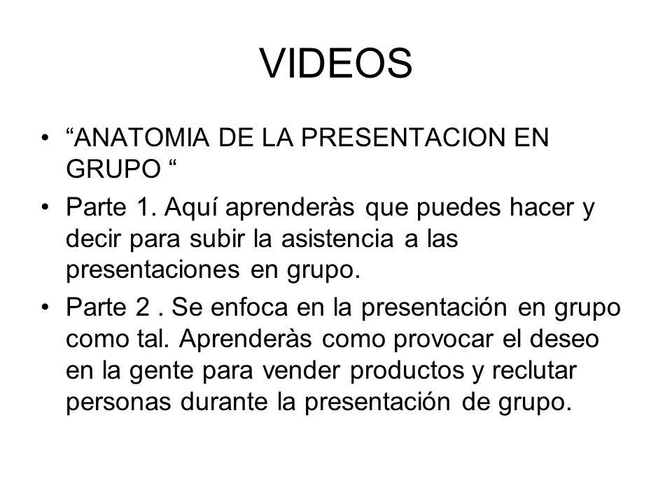 VIDEOS ANATOMIA DE LA PRESENTACION EN GRUPO