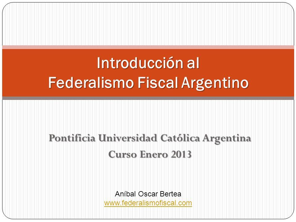 Introducción al Federalismo Fiscal Argentino