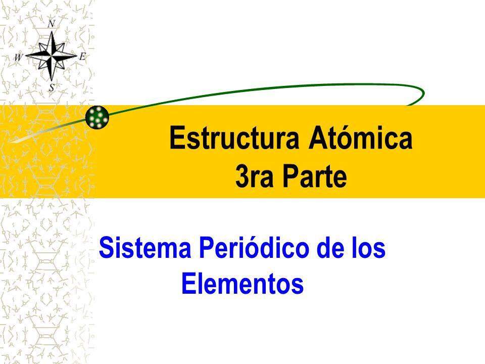 Estructura Atómica 3ra Parte