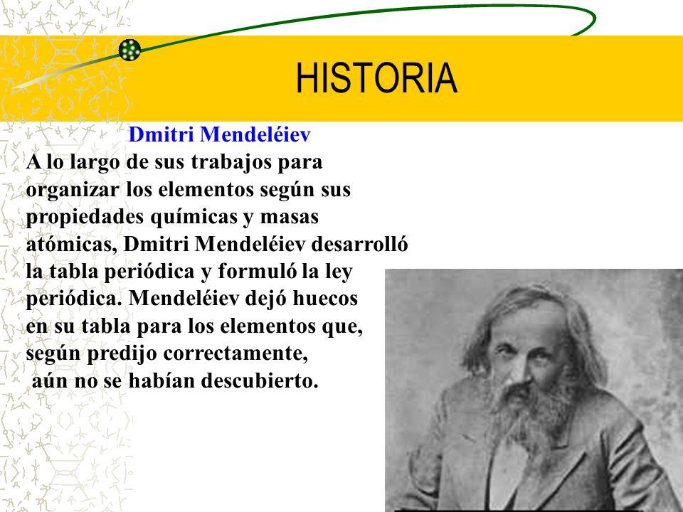 HISTORIA Dmitri Mendeléiev