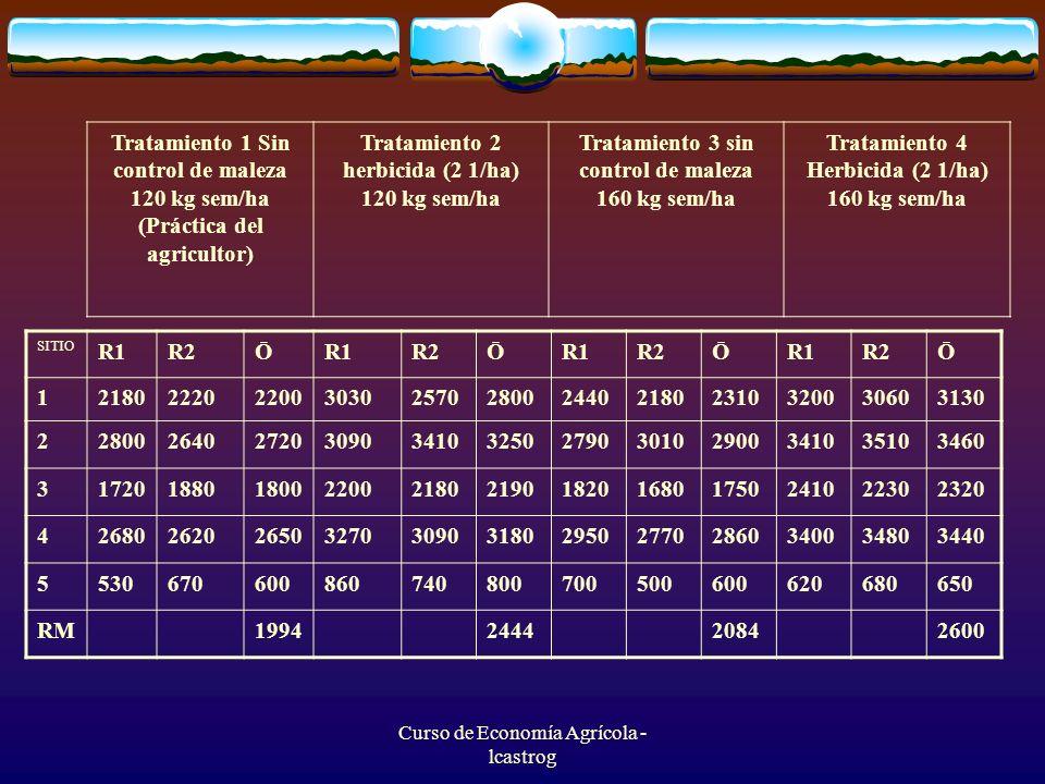 Tratamiento 2 herbicida (2 1/ha) 120 kg sem/ha