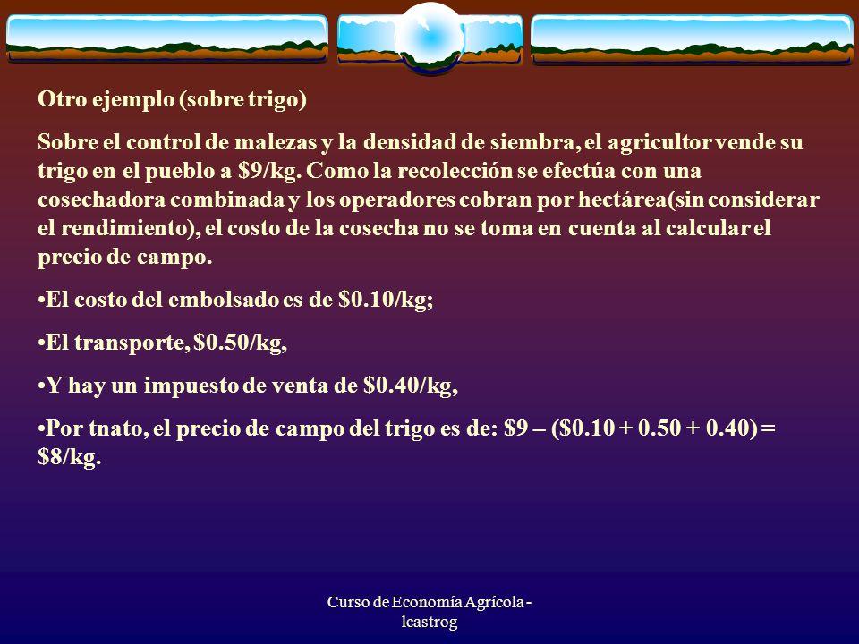 Curso de Economía Agrícola - lcastrog
