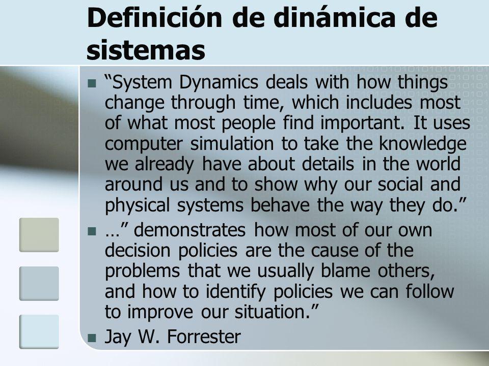 Definición de dinámica de sistemas