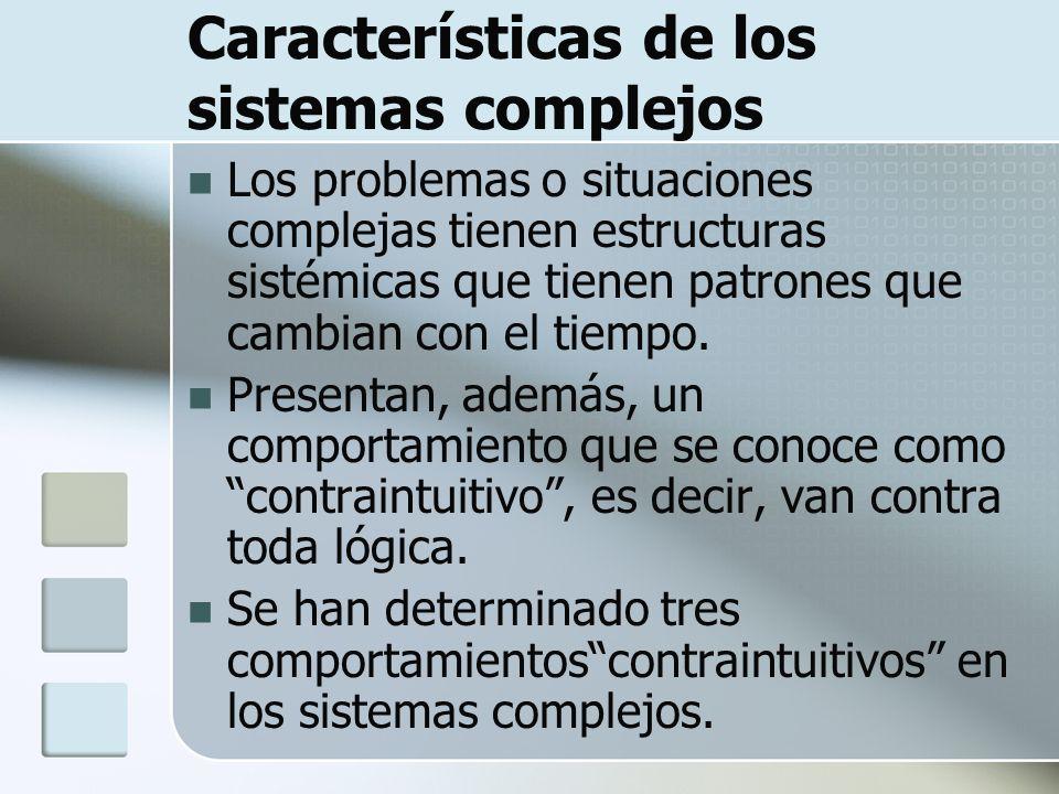 Características de los sistemas complejos