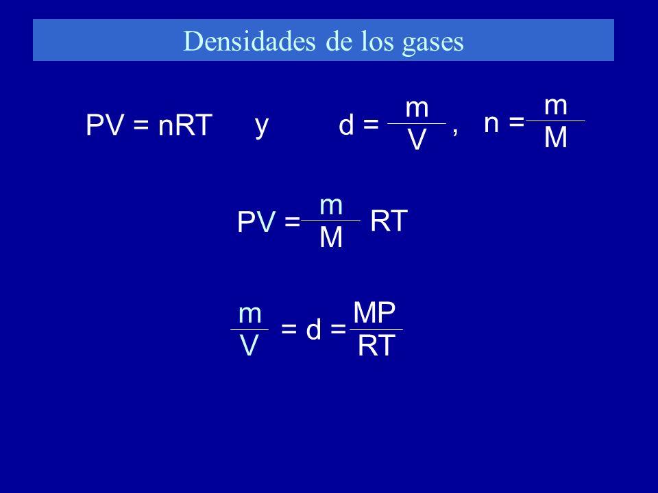 Densidades de los gases