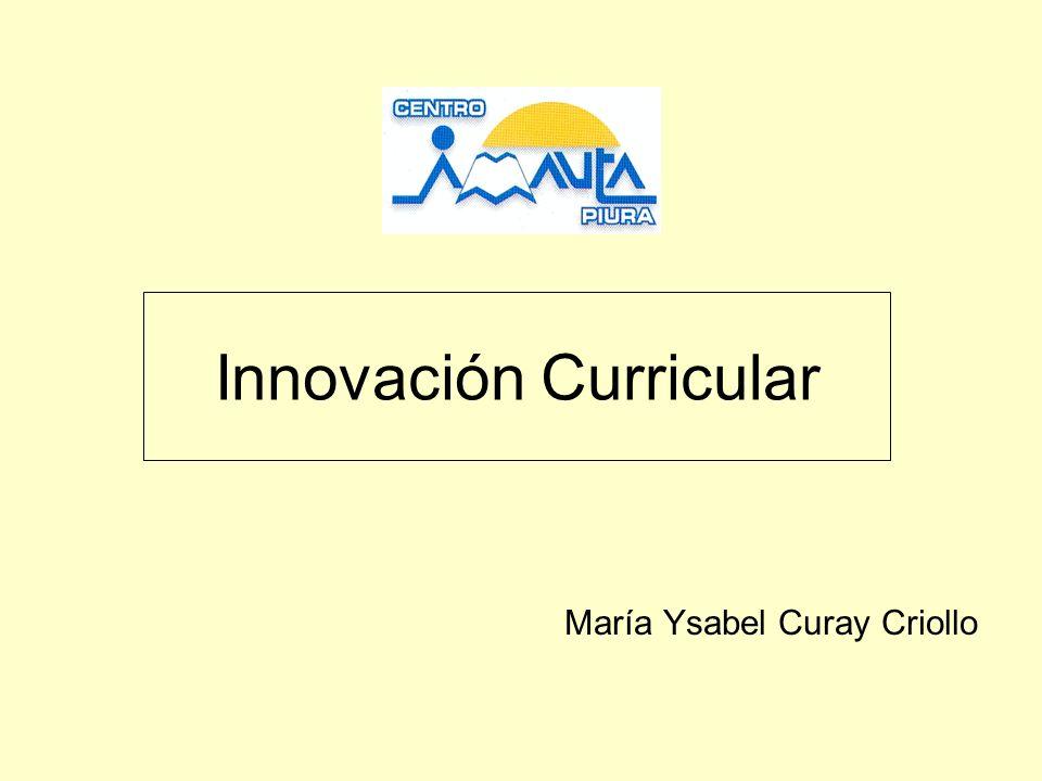 Innovación Curricular