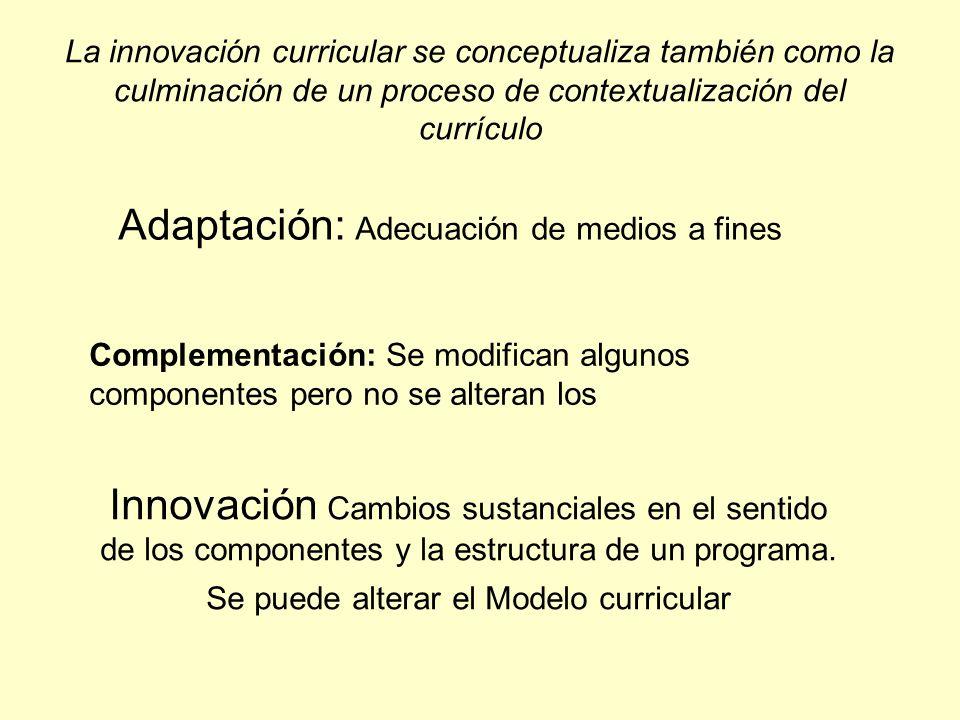 Adaptación: Adecuación de medios a fines