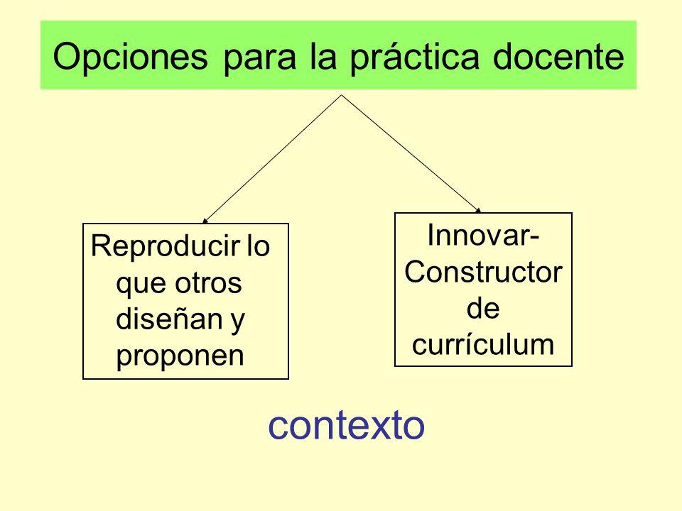 Opciones para la práctica docente