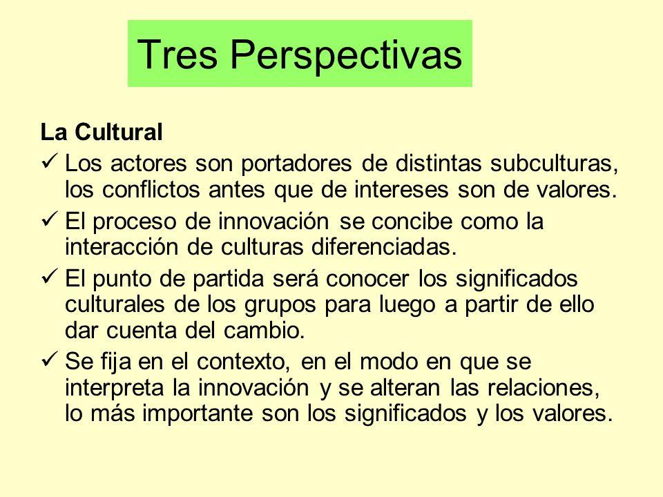 Tres Perspectivas La Cultural