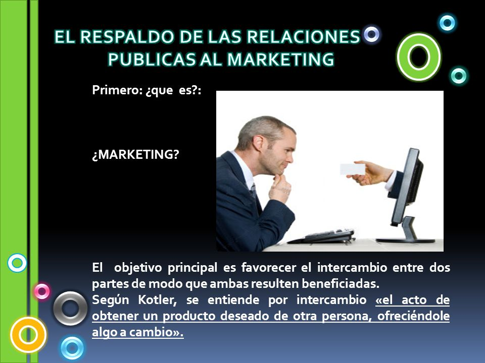 EL RESPALDO DE LAS RELACIONES PUBLICAS AL MARKETING