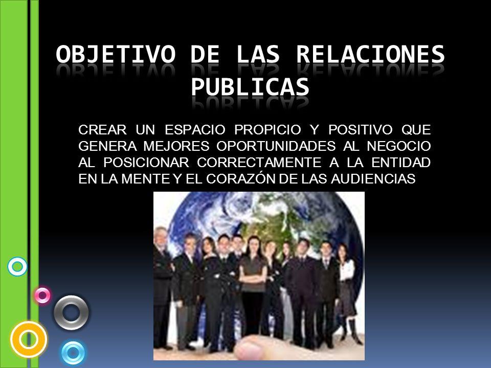 Objetivo de las relaciones publicas