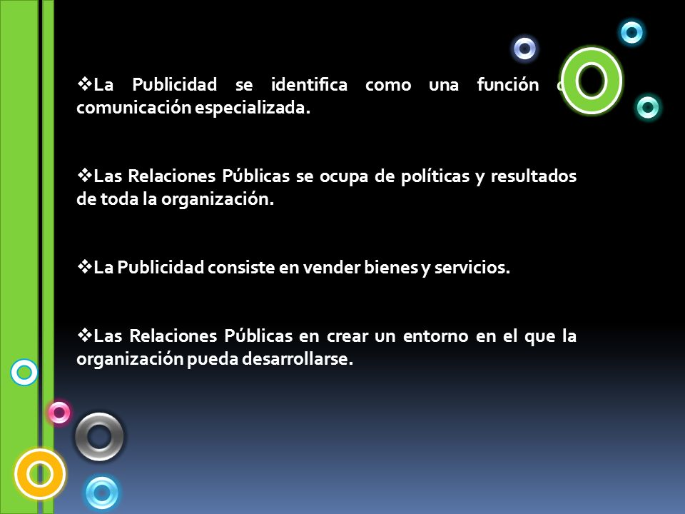 La Publicidad se identifica como una función de comunicación especializada.