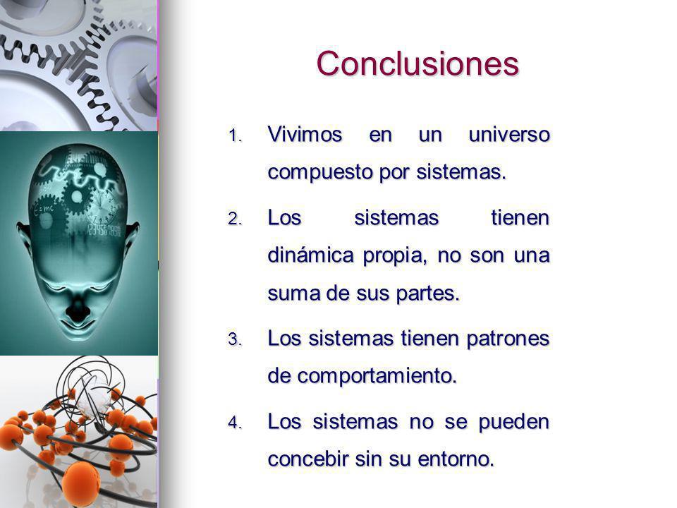 Conclusiones Vivimos en un universo compuesto por sistemas.