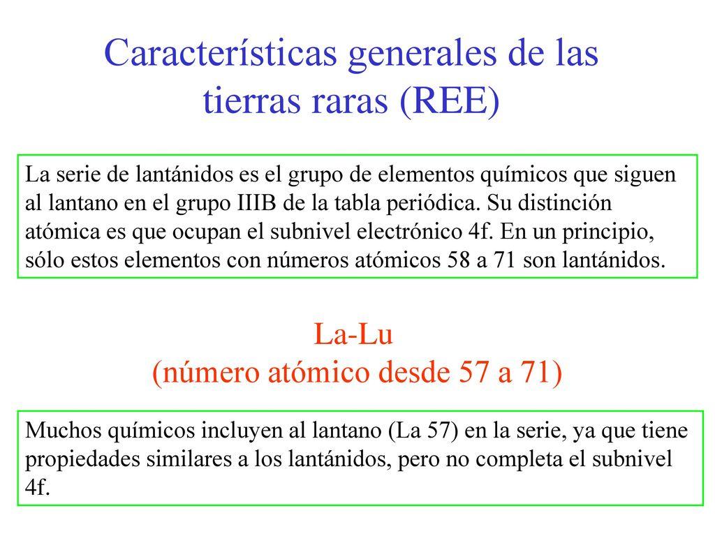 caractersticas generales de las tierras raras ree - Tabla Periodica Tierras Raras