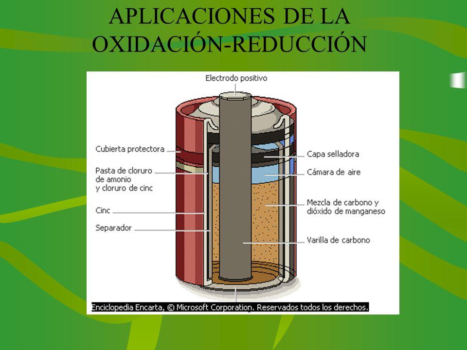 APLICACIONES DE LA OXIDACIÓN-REDUCCIÓN