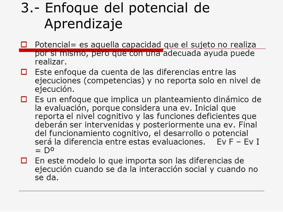 3.- Enfoque del potencial de Aprendizaje