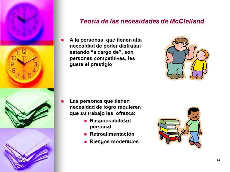 Teoría de las necesidades de McClelland