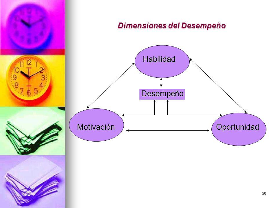 Dimensiones del Desempeño