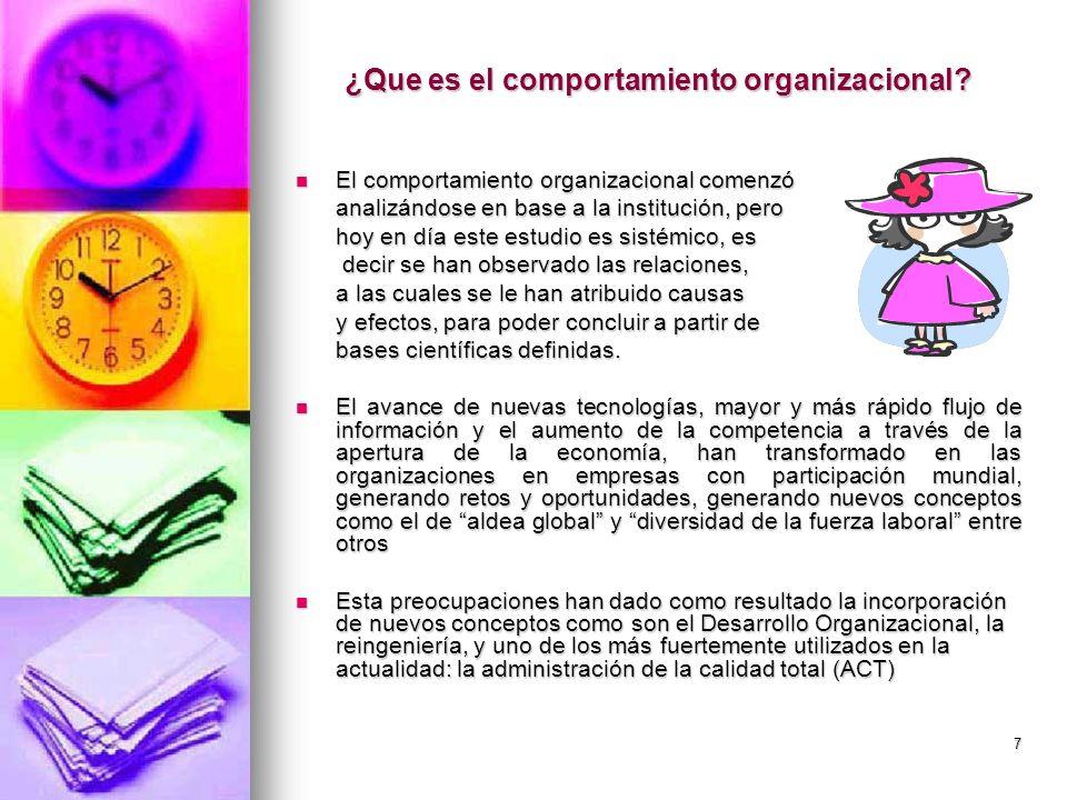 ¿Que es el comportamiento organizacional