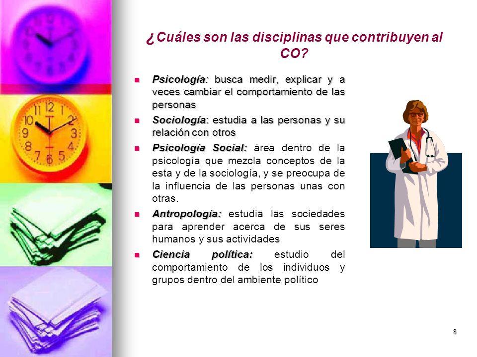 ¿Cuáles son las disciplinas que contribuyen al CO